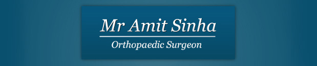 Mr Amit Sinha, Orthopeadic Surgeon
