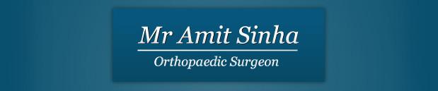Mr Amit Sinha, Orthopeadic Surgeon