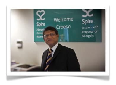 Mr Sinha at Spire Yale Hospital